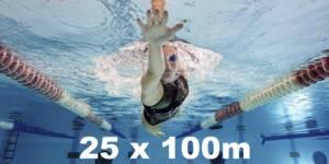 Swim goal 1: 25 x 200m The Swimet